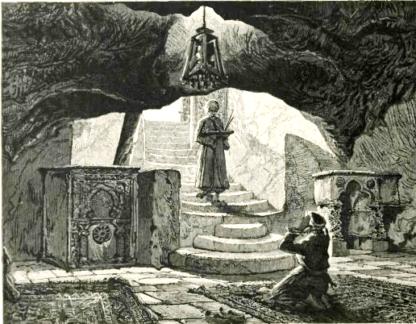 Al-maghara, the cavern under the shtiyyah stone